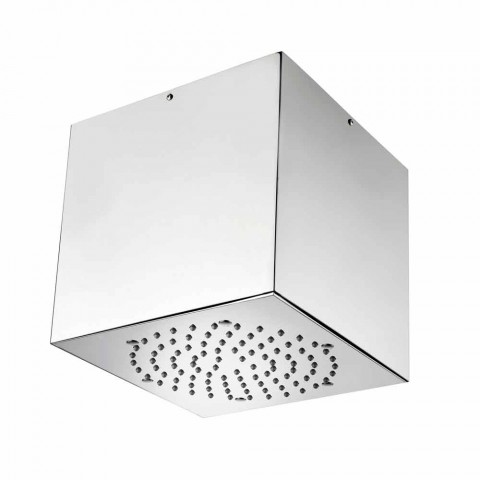 Bossini Cube shower head coated steel to a modern jet