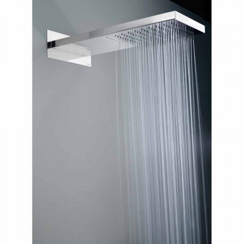 Bossini Manhattan shower head in stainless steel with two jets
