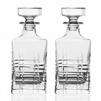 Bottle and Glasses for Luxury Whiskey in Ecological Crystal 6 Pieces - Arrhythmia