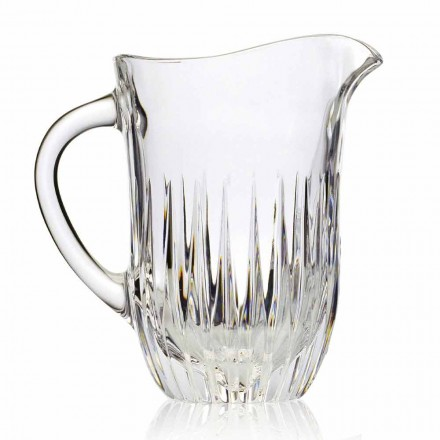 Eco Crystal Jug with Artisan Decoration, 2 Pieces, Italian Luxury Line - Voglia