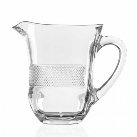 Luxury Decorated Ecological Crystal Glass Jug, 2 Pieces, Luxury Line - Milito