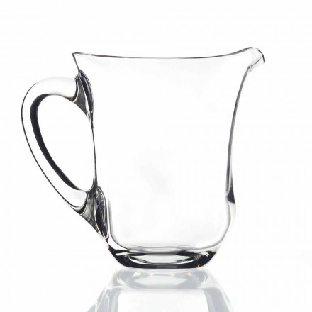 Italian Design Ecological Crystal Water Jug, 2 Pieces, Luxury Line - Lisciato