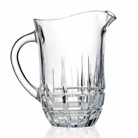Decorated Ecological Crystal Water Jugs, Design 2 Pieces, Luxury Line - Fiucco
