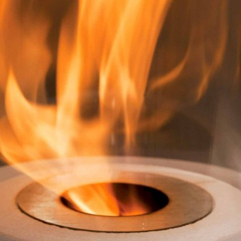 Circular Burner in Satin Steel for Bioethanol Fireplace - Griff12