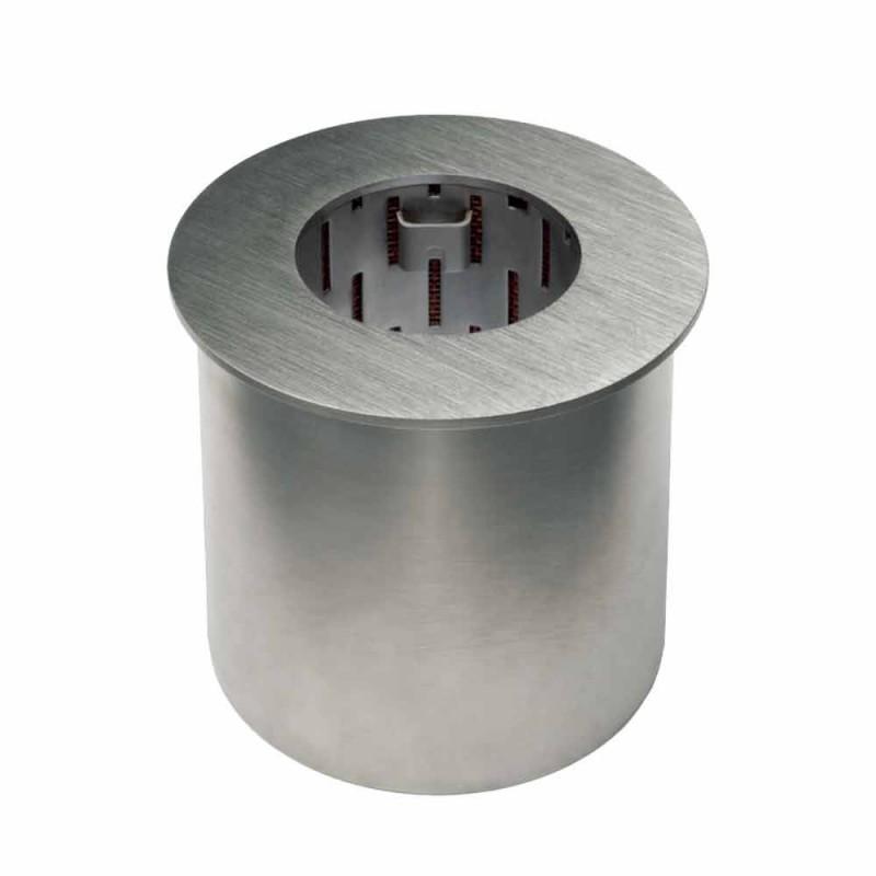 Circular Burner in Satin Steel for Bioethanol Fireplace - Griff12