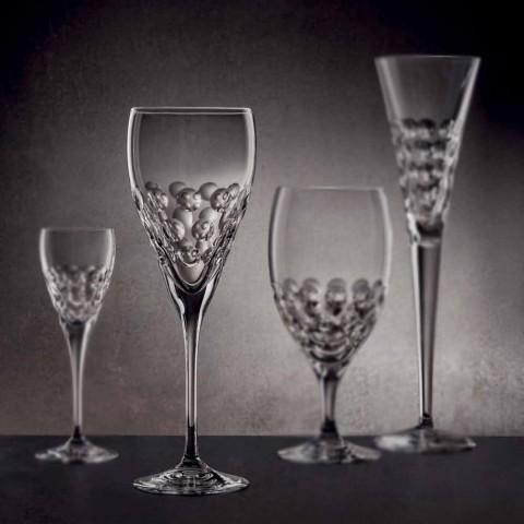 Crystal Design Wine Glasses for Tasting 12 Pieces - Titanioball