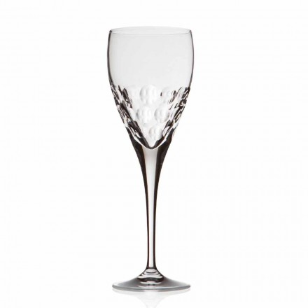 Crystal Design Wine Glasses for Tasting 12 Pieces, Luxury Line - Titanioball