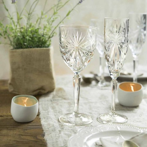 12 Pieces Ecological Crystal Wine or Water Glasses - Daniele