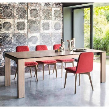 Calligaris Sigma modern table extendable up to 220 cm in ceramic