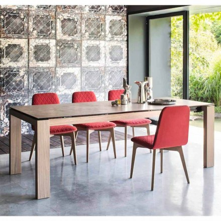 Calligaris Sigma modern design ceramic extendable dining table