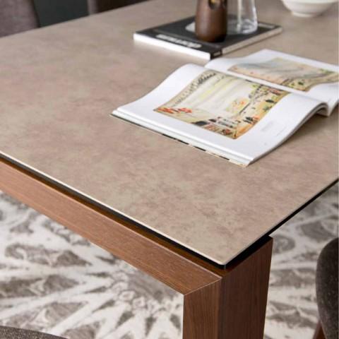 Tavolo Calligaris Bianco Allungabile.Calligaris Sigma Modern Design Ceramic Extendable Dining Table