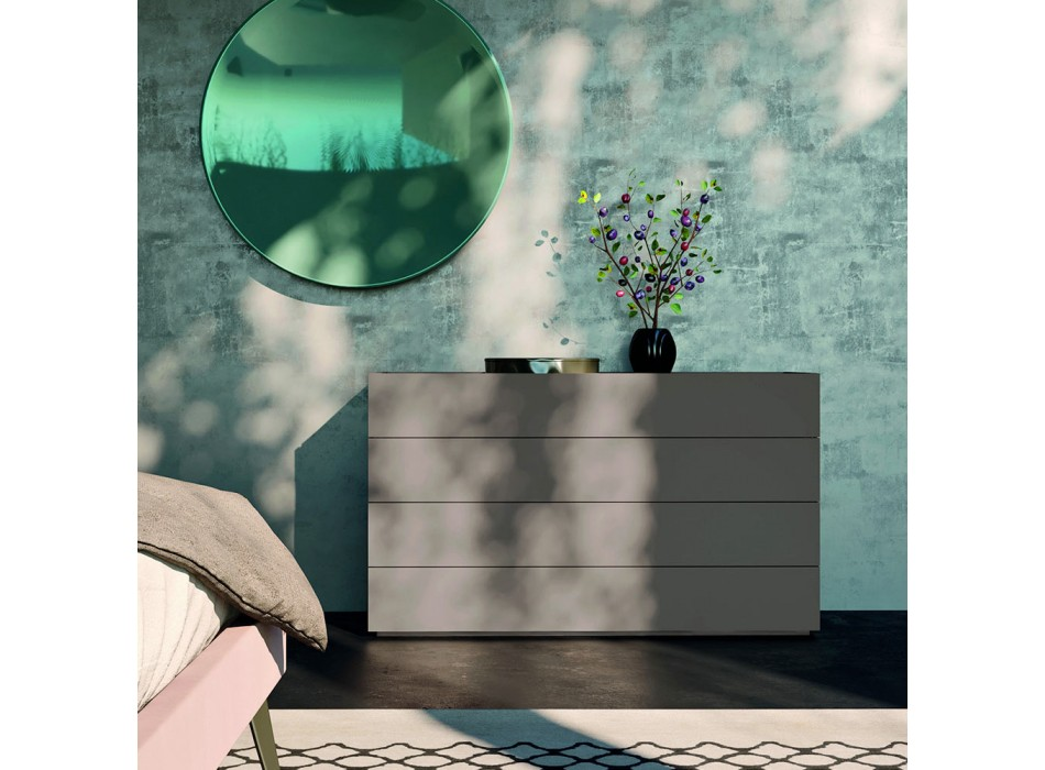 Bedroom with 4 Modern Design Elements Made in Italy - Electric