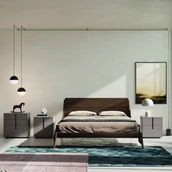 Complete Bedroom with 5 Elements in Modern Style Made in Italy - Savanna
