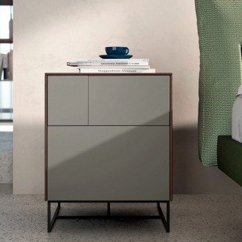 Complete Bedroom with 5 Modern Elements Made in Italy - Shaila