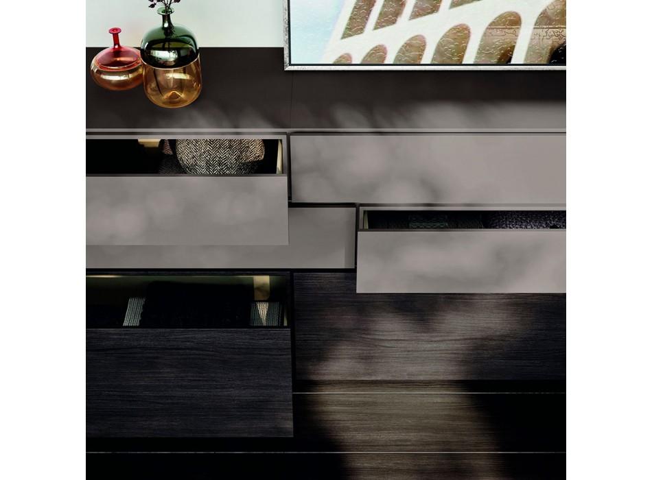 Complete 6-Element Luxury Bedroom Made in Italy - Adige