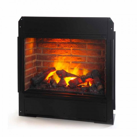 Freestanding Faux Brick Electric Fireplace Insert York Bricks