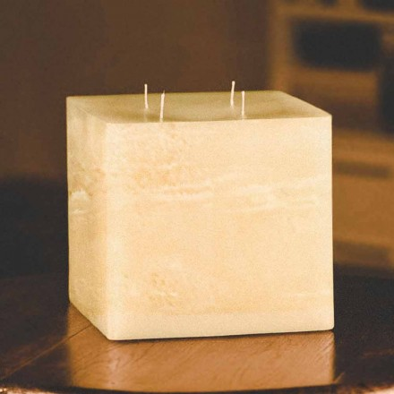 Square Handmade Modern Wax Candle Made in Italy - Mondeo