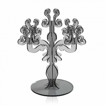 Classic medium design candelabra, 5 arms in Aragon plexiglass