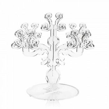 Classic medium design candelabra, 5 arms in Aragon plexiglass