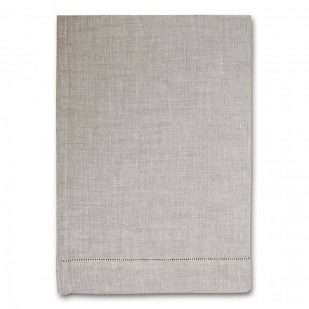 Kitchen Towel in White or Natural Pure Linen Made in Italy - Chiana