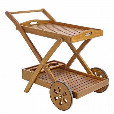 Design Acacia Wood Serving Trolley - Roxen