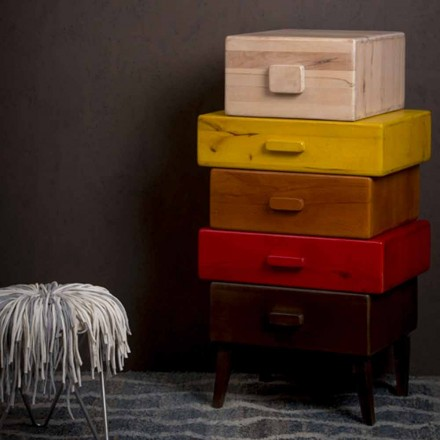 Chest of drawers made of mango wood with a modern design - Vera