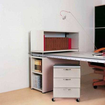 Modern design chest of 3 drawers Adam, white or grey polypropylene