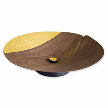 Center Table Fruit Holder Modern in Solid Wood Made in Italy - Stan
