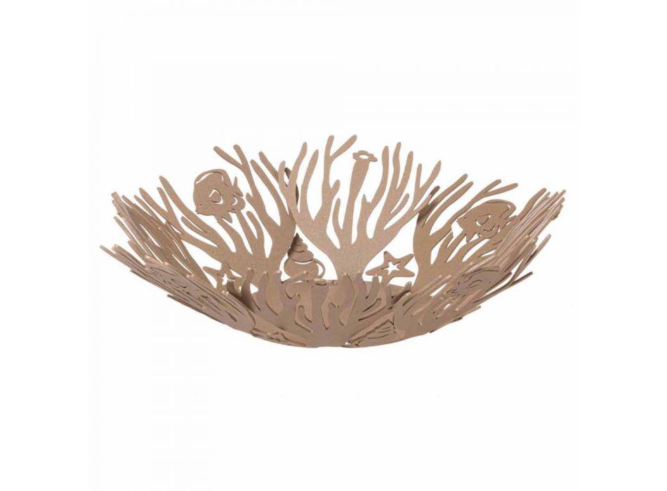 Centerpiece Design with Corals in Precious Iron Handmade in Italy - Maste