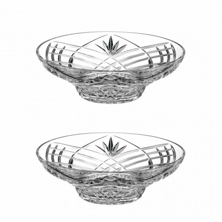Vintage Design Centerpiece in Ecological Crystal 2 Pieces - Cantabile