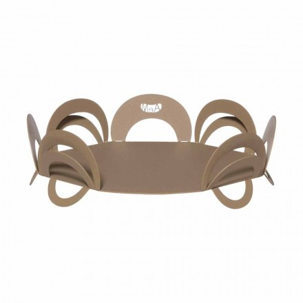 Large Design Centerpiece in Handmade Iron, Made in Italy - Futti