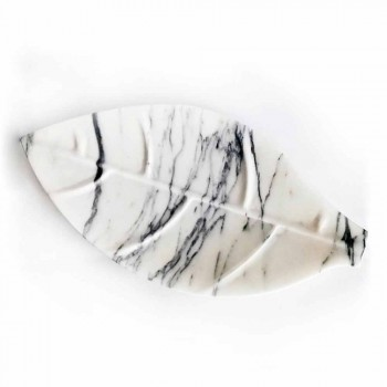 Centerpiece in Arabescato Marble with Leaf Shape Made in Italy - Treviso