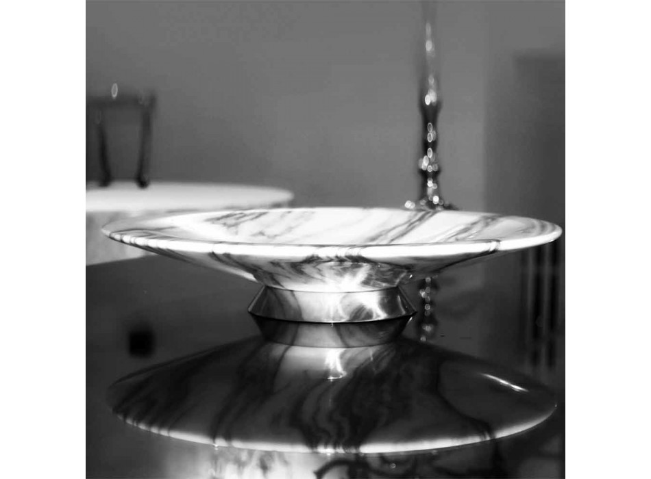 Centerpiece in Brezza della Versilia Marble and Metal Made in Italy - Amabile
