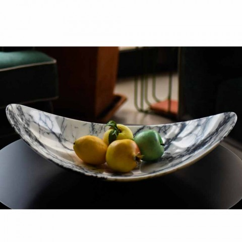 Centerpiece in Paonazzo Marble of Made in Italy Design - Libeccio