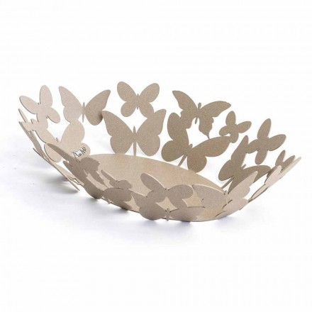 Modern Oval Centerpiece in Precious Iron Hand Made in Italy - Leiden