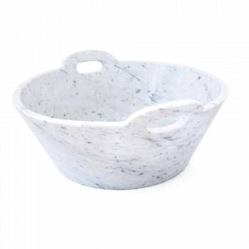 Basket in White Carrara Marble of Italian Luxury Design - Tinozzo
