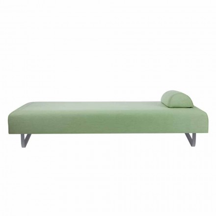 Outdoor Design Chaise Longue in Metal and Fabric Made in Italy - Selia