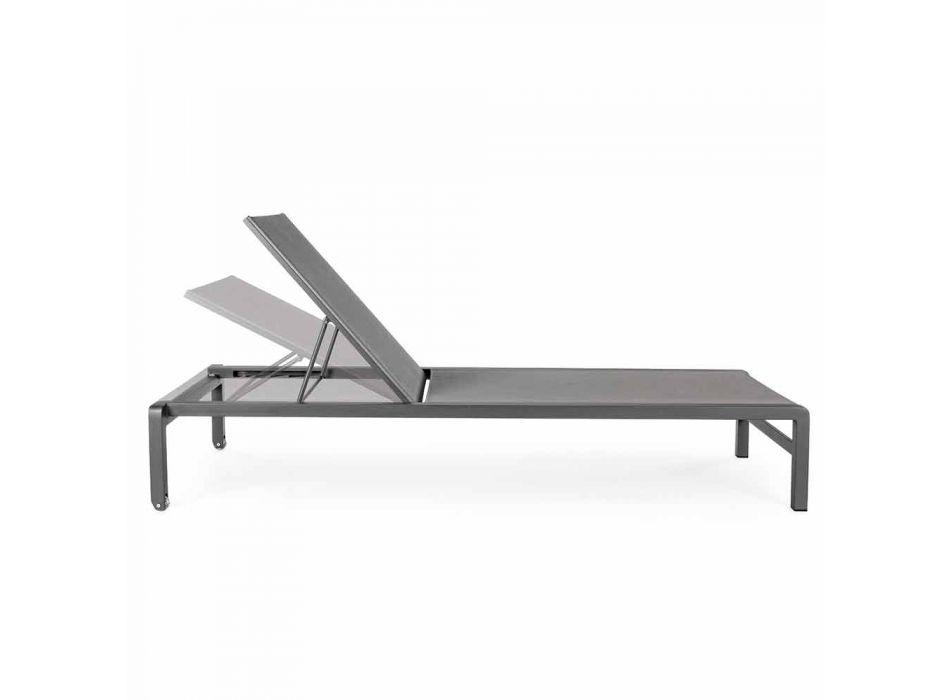 Homemotion Aluminum Reclining Garden Chaise Longue, 4 Pieces - Lester