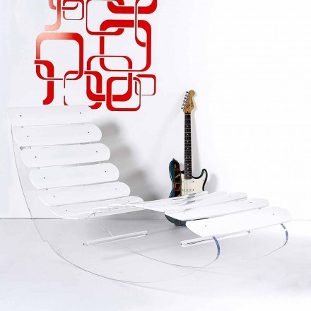 Modern design chaise longue made of transparent plexiglass Josue