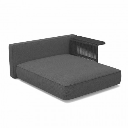 Outdoor Modular Chaise Longue for Outdoor Fabric and Rope - Cliff Decò Talenti