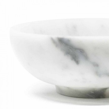 Round Bowl in Satin White Carrara Marble Made in Italy - Delly