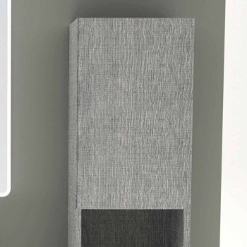 Amanda 2-door bathroom column in modern design eco-leather, made in Italy