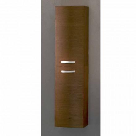 Gioia modern wall hung bathroom cabinet, 2 doors, made in Italy
