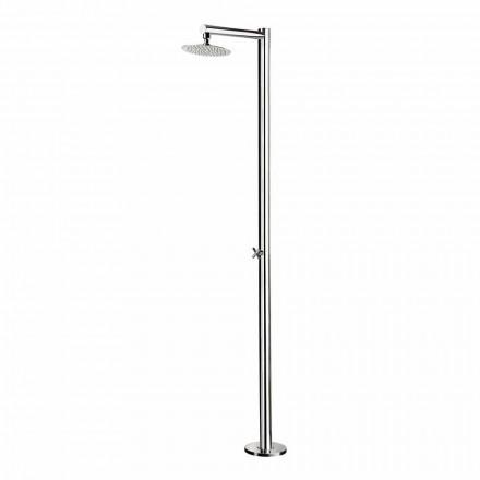 Garden Shower Column in Chromed Stainless Steel Made in Italy - Modeo