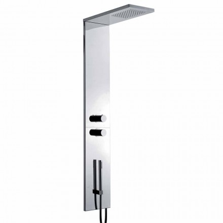 Thermostatic Wall Shower Column in Chromed Stainless Steel Made in Italy - Pampo