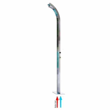 Outdoor stainless steel shower column Arch by Bossini