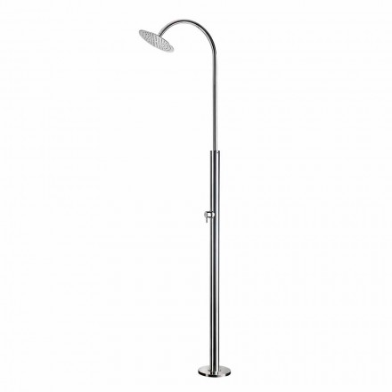 Outdoor Shower Column in Chromed Steel with Mixer Made in Italy - Norton