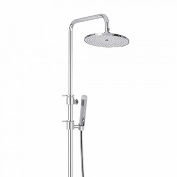 Brass Shower Column with Abs Shower and Made in Italy Shower Head - Hood