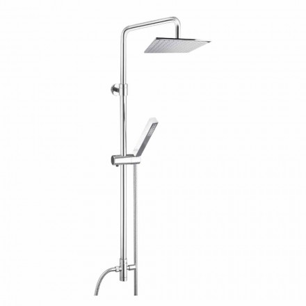 Shower column in brass with shower head and hand shower in Abs Made in Italy - Lesio