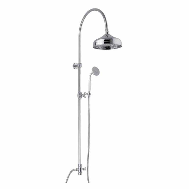 Brass Shower Column with Shower Head and Abs Hand Shower Made in Italy - Rimo